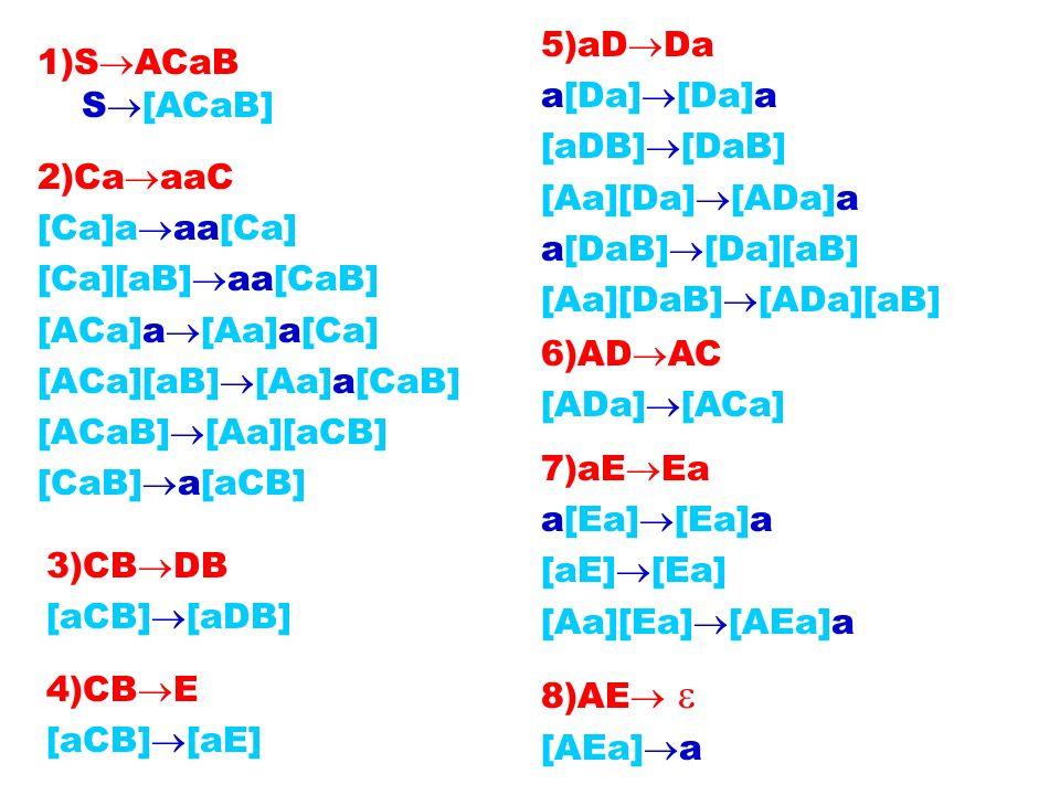 5)aDDaa[Da][Da]a. [aDB][DaB] [Aa][Da][ADa]a. a[DaB][Da][aB] [Aa][DaB][ADa][aB] 1)SACaB. S[ACaB]
